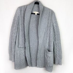 Michael Kors Thick Cable Knit Cardigan M